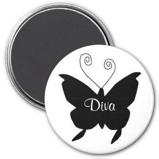 Diva Butterfly Refrigerator Magnet