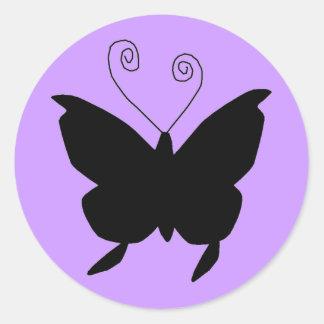 Diva Butterfly Round Sticker