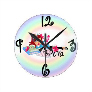Diva - Custom Square Wall Clock