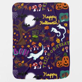 Diva Dachshund's Halloween Baby Blanket