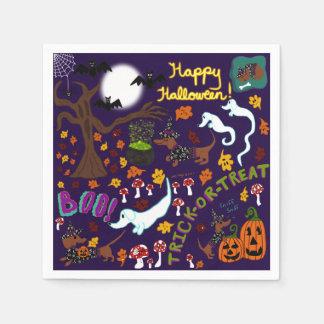 Diva Dachshund's Halloween Disposable Napkin