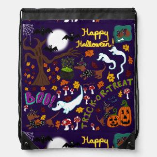 Diva Dachshund's Halloween Drawstring Bag