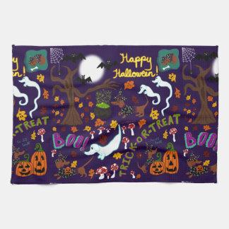 Diva Dachshund's Halloween Kitchen Towel