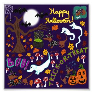Diva Dachshund's Halloween Photo Print