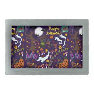 Diva Dachshund's Halloween Rectangular Belt Buckle