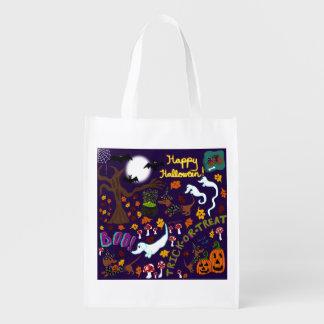 Diva Dachshund's Halloween Reusable Grocery Bag