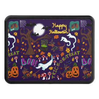 Diva Dachshund's Halloween Trailer Hitch Cover