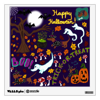 Diva Dachshund's Halloween Wall Sticker