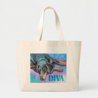 Diva Dog Large Tote Bag