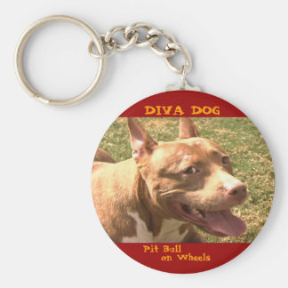 DIVA DOG Profile Keychain