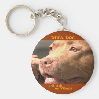 DIVA DOG Up Close & Personal Keychain