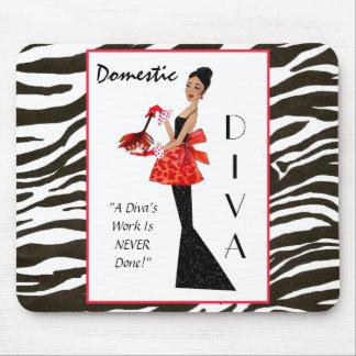 """""""Diva domestique"""" - le travail d'une diva n'est ja Tapis De Souris"""