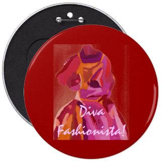 Diva Fashionista Autumn Reds Buttons
