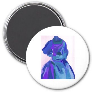 Diva Fashionista In Blue I Magnets