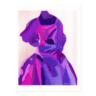 Diva Fashionista In Blue Postcard