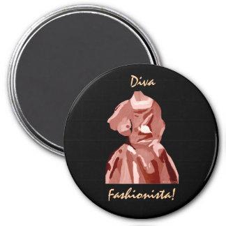 Diva Fashionista In Neutral Refrigerator Magnets