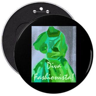 Diva Fashionista In Summer Pin
