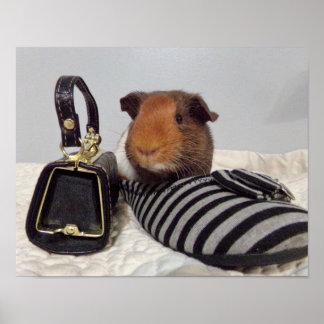 Diva guinea pig poster