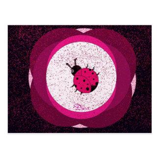 Diva Lady Bug Postcard