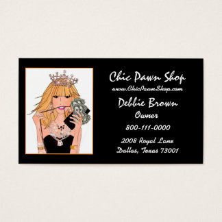 DIVA Pawn Shop Business Cards