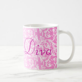 Diva Pink Lace Coffee Mug