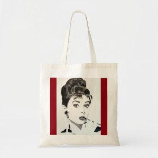 Diva pop art tote bag