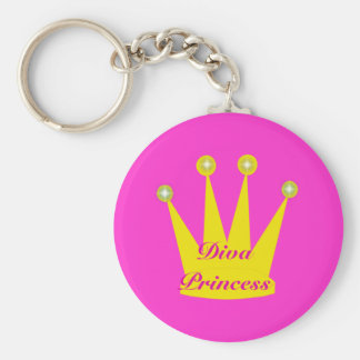 Diva Princess Crown Keychain