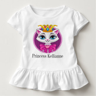 Diva Princess Kitty Tot shirt with Ruffles