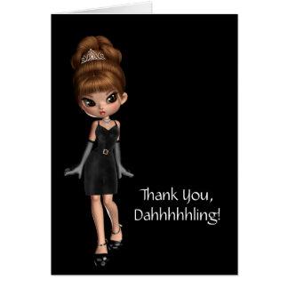 Diva Princess Thank You Card