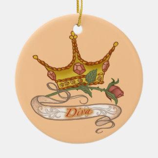 Diva Queen Ceramic Ornament