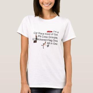 Diva SUPÉRIEURE de course de voiture T-shirt