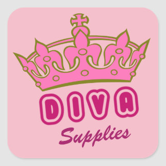 Diva Supplies Square Sticker