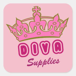Diva Supplies Square Sticker