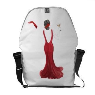 Diva toast illustration messenger bags