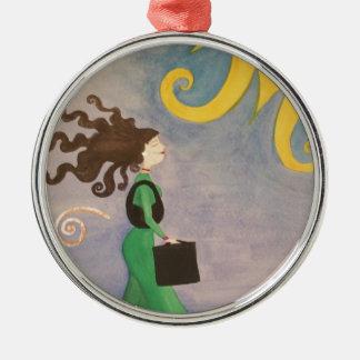 Diva Working Woman Metal Ornament