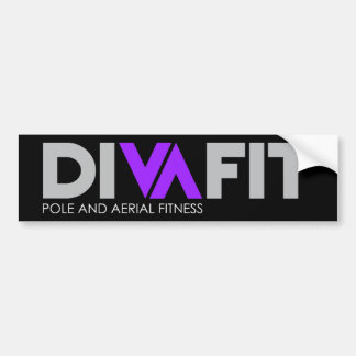 DivaFit Bumper Sticker (Dark)