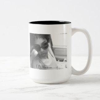 DIVAlicious Collection Two-Tone Coffee Mug