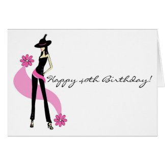 Diva's 40th Birthday Card for Women