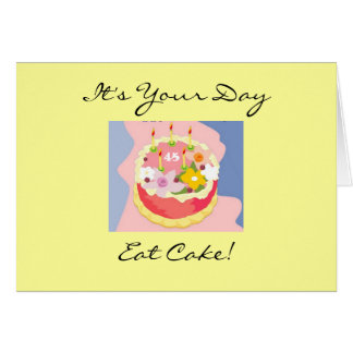 Diva's 45th Birthday Cake Greeting Card
