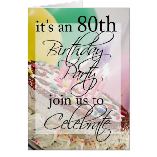 Diva's 80th Birthday Party Invitation Card