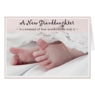 Diva's Congrats on Your New Granddaughter Card