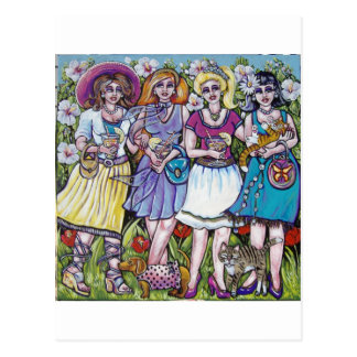 divas garden party postcard