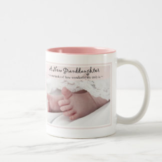 Diva's Gift for New Grandparents-It's a Girl! Two-Tone Coffee Mug