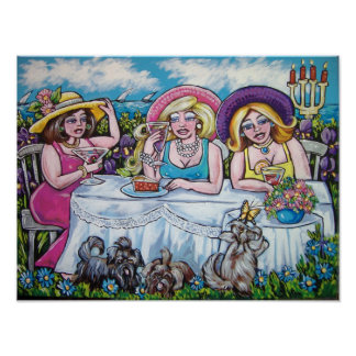 divas picnic by the sea poster