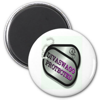 DIVASWAGG PROTECTED DOG TAGS 2 INCH ROUND MAGNET