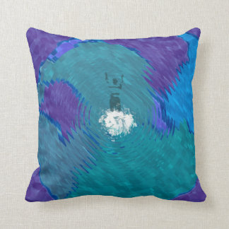 Dive and Swim Throw Pillow