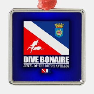 Dive Bonaire Metal Ornament