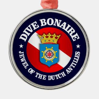 Dive Bonaire (rd) Metal Ornament