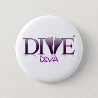 Dive Diva Fins 2 Inch Round Button