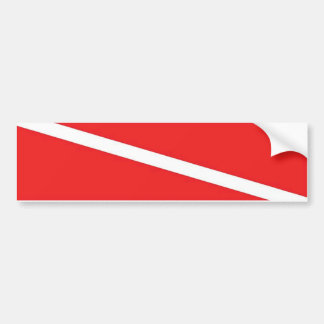 Dive Flag Bumper Sticker